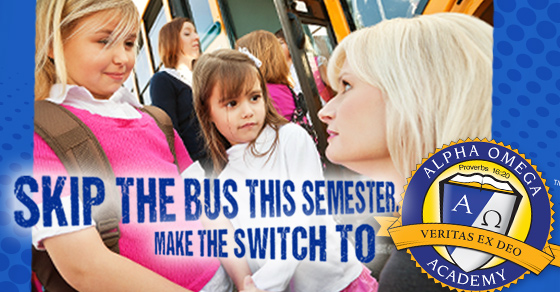 Skip the Bus this Semester. Make the Switch to AOA.