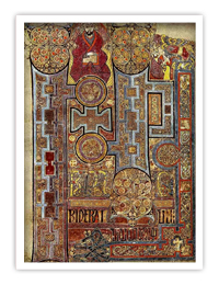The Book of Kells shows the lavishly decorated text that opens the Gospel of John. (Source: Wikipedia)