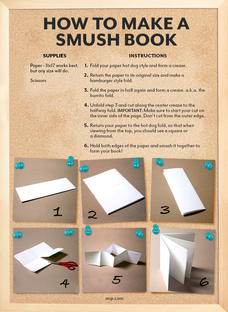 How To Make A Bookend : How to make a smush book aop homeschooling