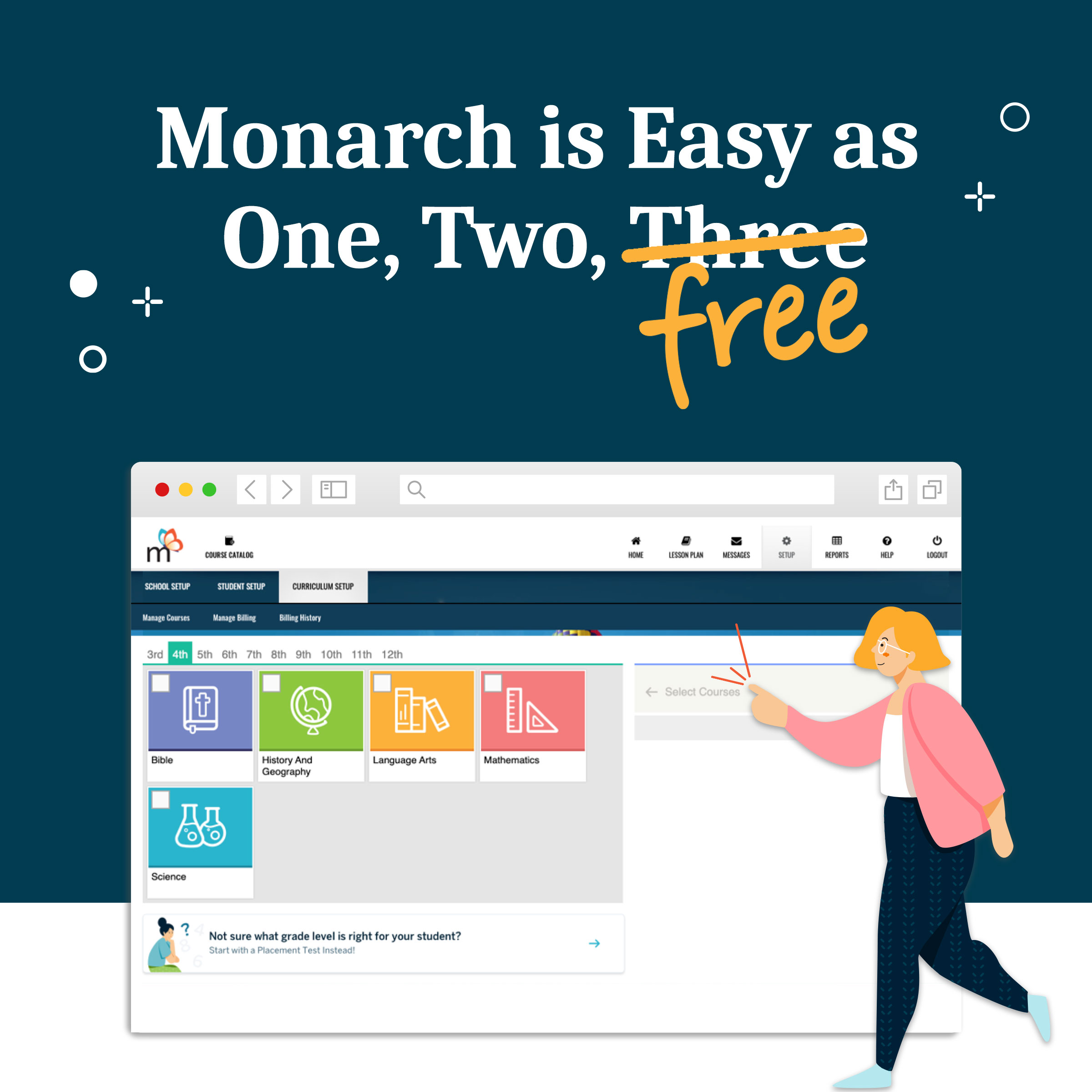 Monarch is Easy as One, Two, FREE