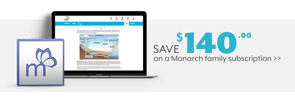 Save $140 on a Monarch family subscription