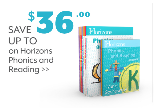 Save up to $36 on Horizons Phonics and Reading