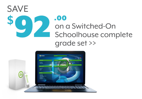Save $92 on a Switched-On Schoolhouse complete grade set