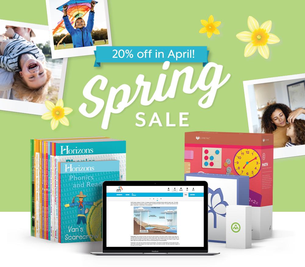 Spring Sale - 20% off all AOP Curriculum.