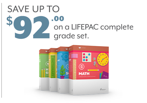 Save up to $92 on a LIFEPAC Complete Grade Set