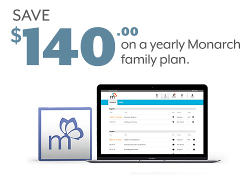 Save $140 on a yearly Monarch family plan