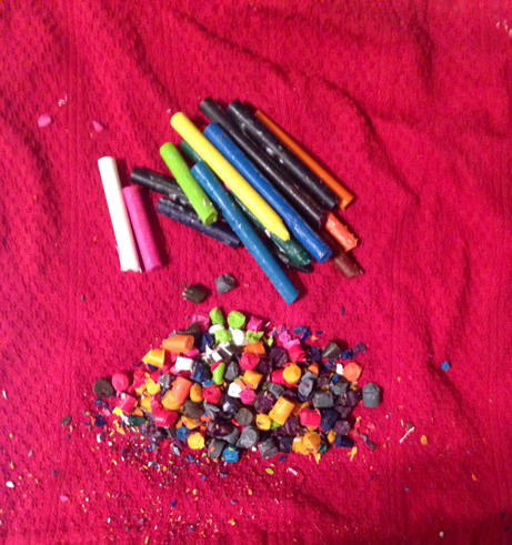 Preparing Crayons